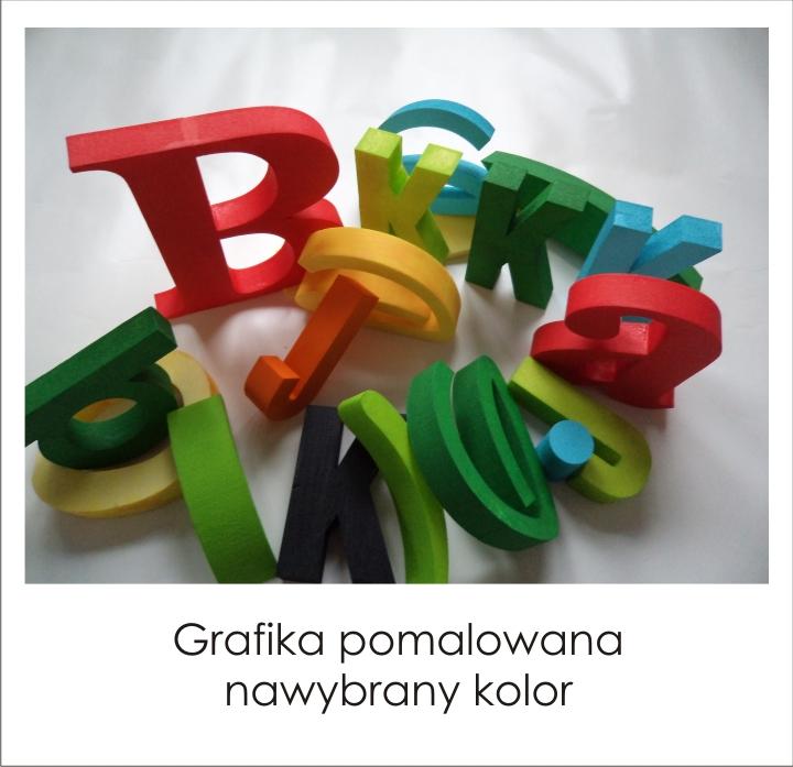 kolorowe litery 3d